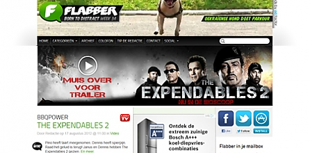 Expandable billboard met fullpage layer op Flabber